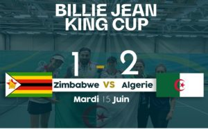 Coupe Billie Jean King/1e journée: victoire de l'Algérie devant le Zimbabwe 2-1